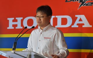 Motorcycle Department Manager of Motor Sports Division of Honda Motor Co., Ltd. Mr. Soichi Yamana
