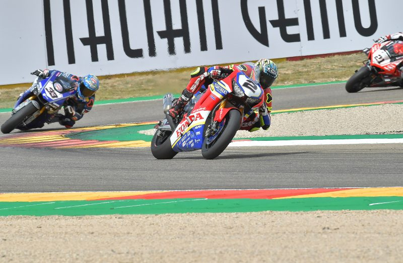 Eleventh place for Leon Camier in Race 1 at Aragón, Ryuichi Kiyonari closes 14th