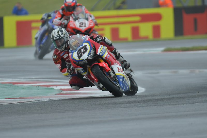 Ryuichi Kiyonari finds consistent pace in the wet to finish 11th in Race 1 at Donington